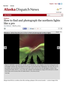 ADN photograph northern lights cover