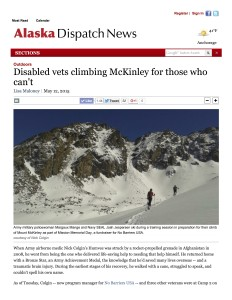 Disabled vets climbing McKinley for those who can't | Alaska Dispatch News
